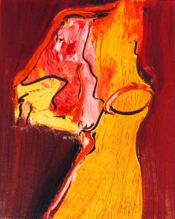 oh lekker, kleuren, rood, oranje, roze, geel, abstract, figuratief, schilderij, robert, pennekamp, robert pennekamp, lekker, heerlijk, fijn, mooi, aarde